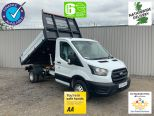 FORD TRANSIT T350 SINGLE CAB L3 ONE STOP ALLOY TIPPER  2.0L 130PS - DOUBLE REAR WHEEL -ECO BLUE EURO 6   - 2127 - 1