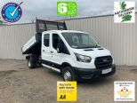 FORD TRANSIT 350 2.0 130 BHP ECO BLUE DOUBLE CAB  TIPPER -DOUBLE REAR WHEELS  - 2126 - 1