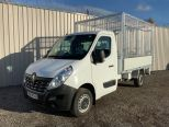 RENAULT MASTER 3500 KG GROSS WEIGHT TIPPER + FULLY GALVANISED CAGE -  LIGHT WEIGHT ALLOY BODY .** BRAND NEW ** IN STOCK ** DRIVE AWAY TODAY ** EURO 6 **   - 2243 - 9