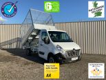 RENAULT MASTER 3500 KG GROSS WEIGHT TIPPER + FULLY GALVANISED CAGE -  LIGHT WEIGHT ALLOY BODY .** BRAND NEW ** IN STOCK ** DRIVE AWAY TODAY ** EURO 6 **   - 2243 - 1