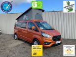 FORD TRANSIT CUSTOM 2.0TDCI 300 LIMITED LWB L2 ** DELIVERY MILES ** 4 BERTH POP TOP CAMPER ** ROCK 'N' ROLL BED ** NO VAT!! NO VAT**10 YEAR FINANCE OPTIONS!! - 1818 - 1