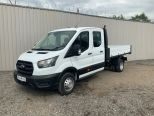 FORD TRANSIT 350 2.0 130 BHP ECO BLUE DOUBLE CAB  TIPPER -DOUBLE REAR WHEELS  - 2126 - 3