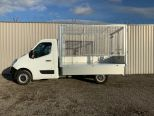 RENAULT MASTER 3500 KG GROSS WEIGHT TIPPER + FULLY GALVANISED CAGE -  LIGHT WEIGHT ALLOY BODY .** BRAND NEW ** IN STOCK ** DRIVE AWAY TODAY ** EURO 6 **   - 2243 - 14