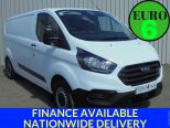 FORD TRANSIT CUSTOM 2.0TDCI 300 BASE ** LATEST MODEL ** LWB L2 ** INTERNAL RACKING ** VERY LOW MILES - 1725 - 1