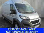 PEUGEOT BOXER 2.2HDI 435 L4 H2 PROFESSIONAL ** SILVER ** AIR CON ** SAT NAV ** EX-LWB - 1654 - 1
